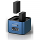 Hahnel PRO CUBE 2 Professional Charger for Select Fujifilm/Panasonic Batteries